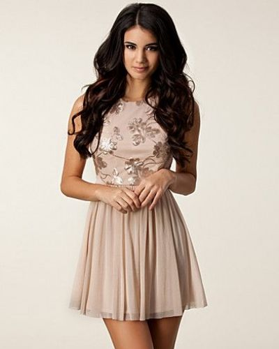 Elise Ryan Flower Sequin Dress
