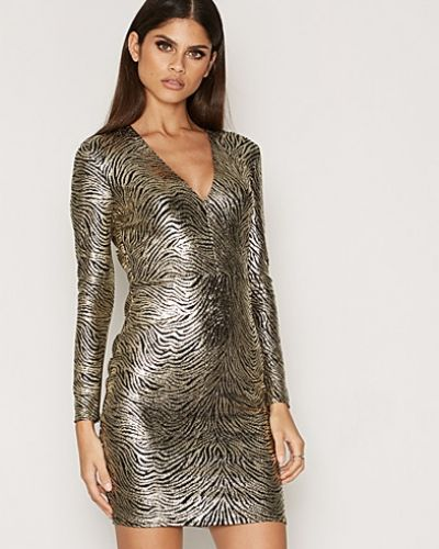 NLY One Foil Plunge Neck Dress