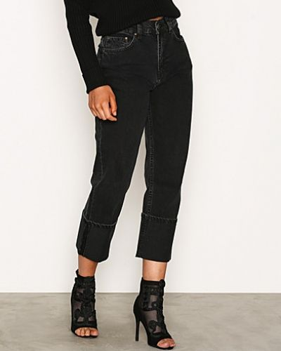 Fold Up Denim NLY Trend straight leg jeans till dam.