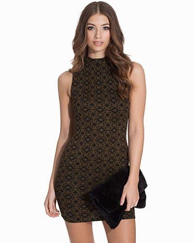 Miniklänning Folk Jacquard Funnel Neck Mini Dress från New Look