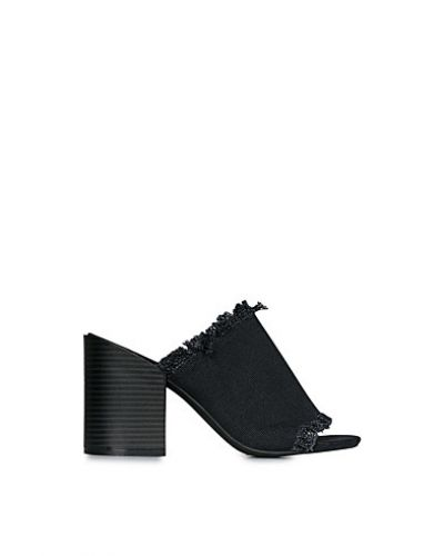 Nly Shoes Frayed Canvas Mule