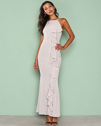 Missguided Frill 90's Neck Maxi Dress