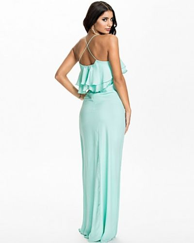 Club L Frill Detail Cross Back Maxi Dress