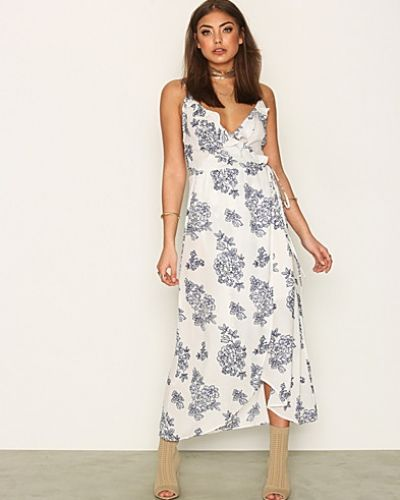 Maxiklänning Frill Wrap Strap Long Dress från NLY Trend