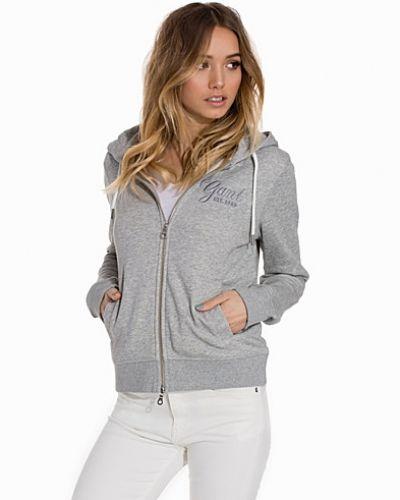 gant hoodie dam grå