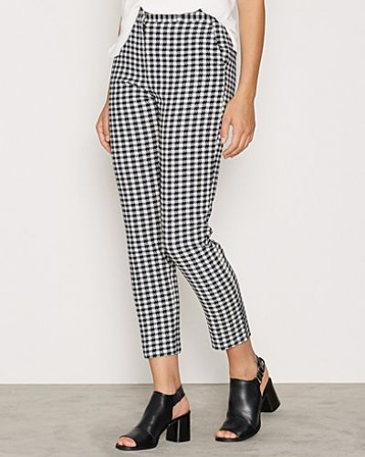 Topshop Gingham Cigarette Trousers