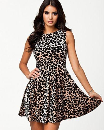 Glamorous Giraffe Velvet Sleeveless Dress