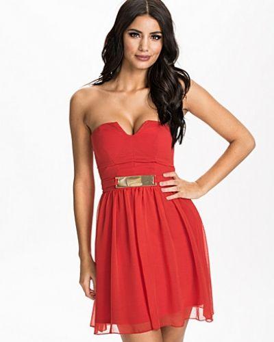Elise Ryan Gold Plate Bandeau Dress