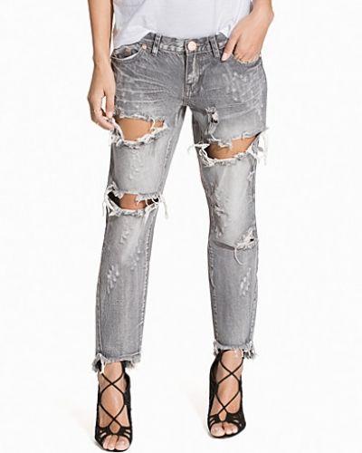 One Teaspoon Grey Chalk Freebird Jeans