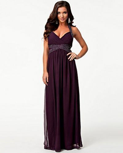 Ax Paris Halter Neck Jeweled Maxi Dress
