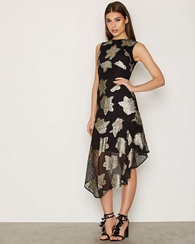 Topshop Hanky Hem Lace Midi Dress