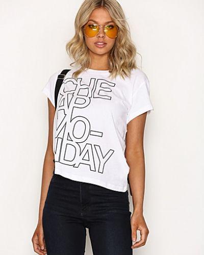 Vit t-shirts från Cheap Monday till dam.