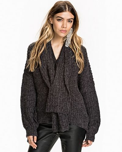 NLY Design Heavy Knit Sweater With Scarf