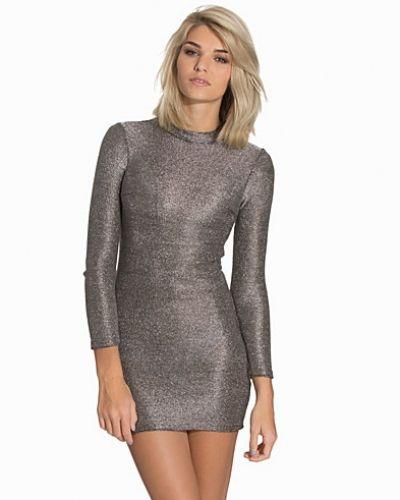 Silver långärmad klänning från Topshop till dam.