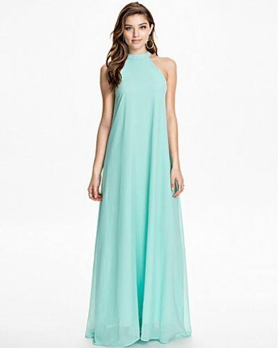 Club L High Neck Chiffon Maxi Dress
