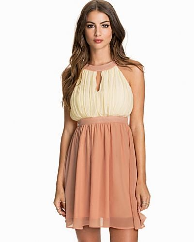 Club L High Neck Gathered Dress