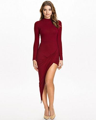 Club L High Neck Side Rouched L/S Dress