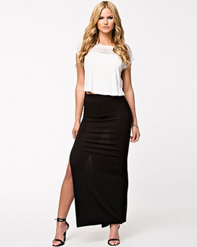 NLY Trend High Slit Maxi Skirt