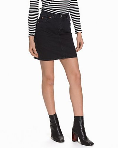 Topshop High Waist Denim Skirt
