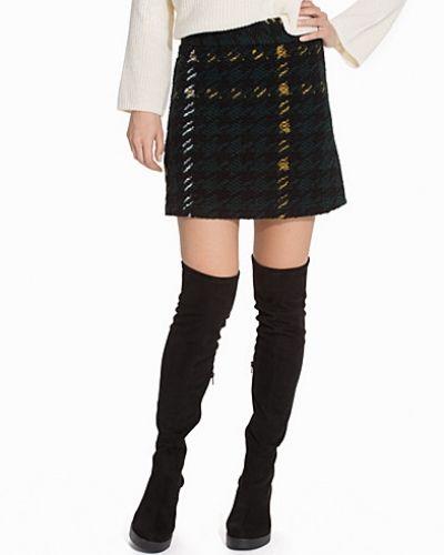 High-Waisted Check A-Line Skirt Topshop midikjol till kvinna.