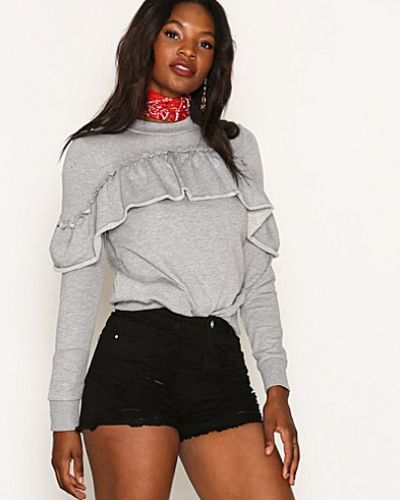 High Waisted Shredded Denim Shorts från Missguided
