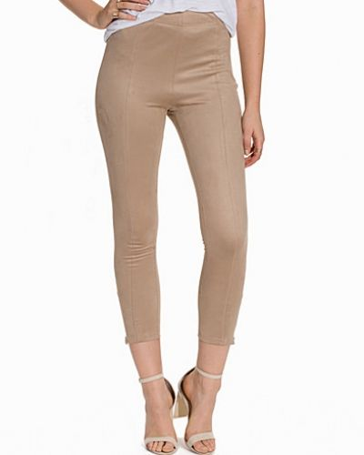 Byxa Highwaist Suedette Pants från NLY Trend