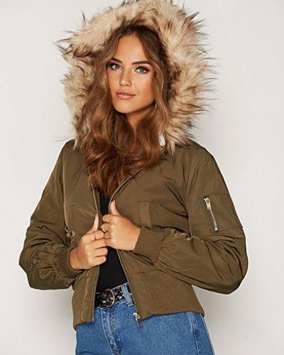 Miss Selfridge Hooded Bomber Jacket