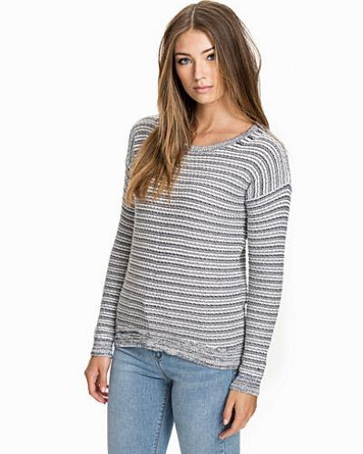 Ibha cn Sweater l/s Hilfiger Denim stickade tröja till dam.