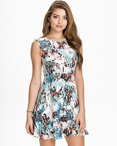 French Connection Isla Ripple S/L Flared Dress