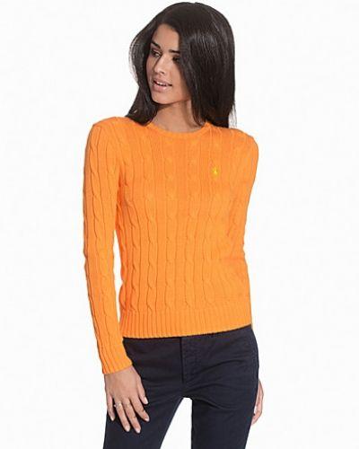 orange stickad tröja dam