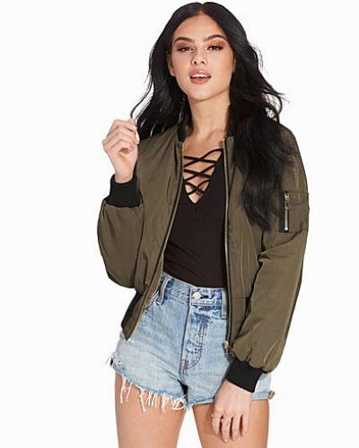 Miss Selfridge Khaki Bomber Jacket