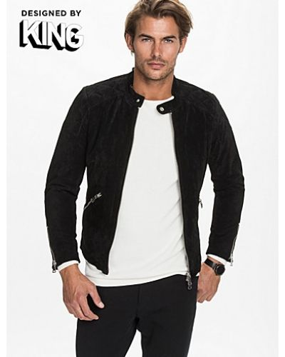 Skinnjackor från King For Jofama – King 4 Black suede jacket