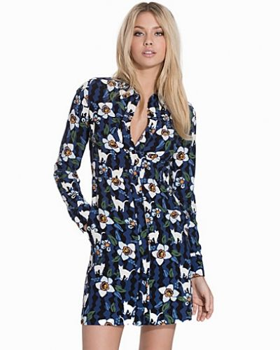 Topshop Kitten Floral Shirtdress