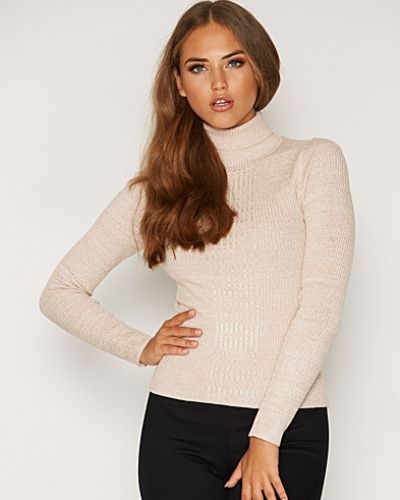 Miss Selfridge Knitted Rib Roll Neck Jumper