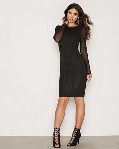 L/S Bodycon Mesh Dress Wow Couture långärmad klänning till dam.