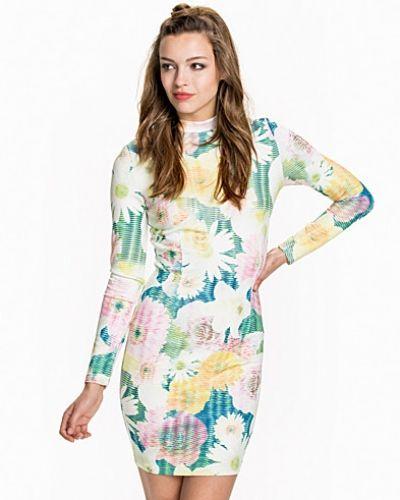 Ax Paris L/S Printed Flower Dress