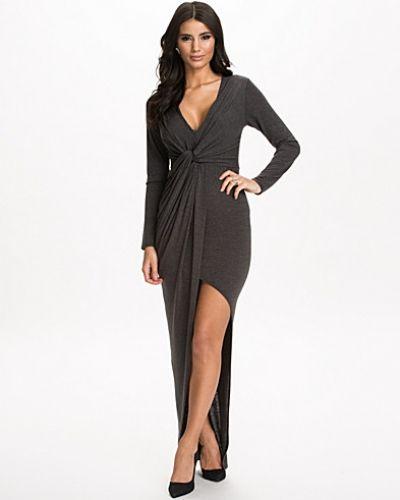L/S Wrap Front Maxi Dress Club L långärmad klänning till dam.