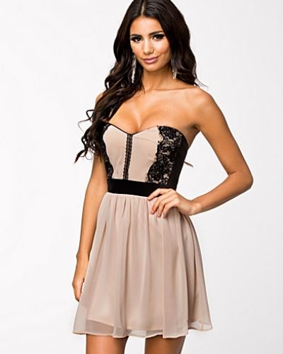 Elise Ryan Lace Bandeau Skater Dress