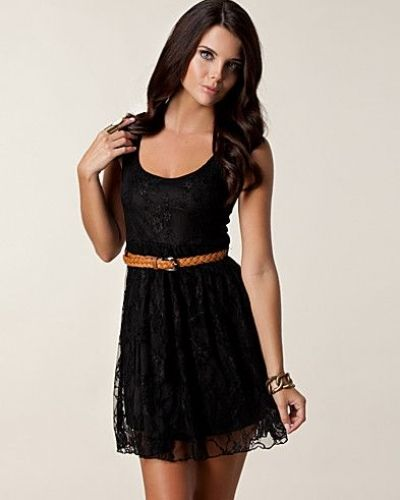 Club L Lace Belt Dress