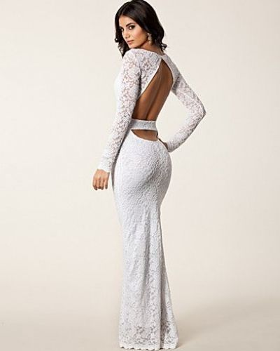 John Zack Lace Cut Out Back Maxi Dress