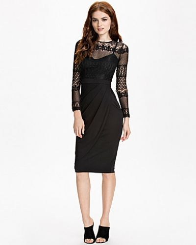 French Connection Lace Drape L/S Dress