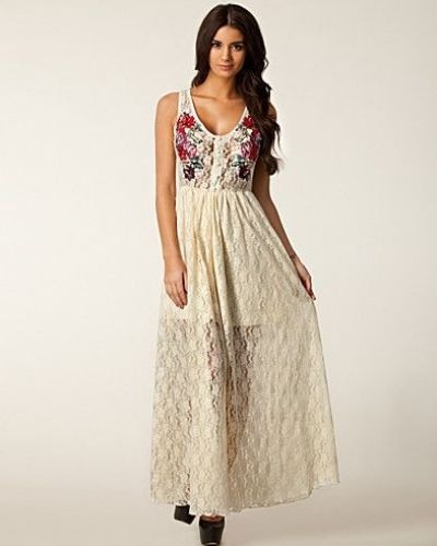 Lace Embroided Maxi Dress Rare London studentklänning till tjejer.
