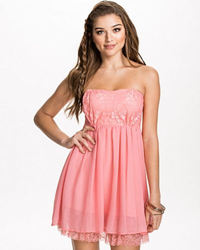 NLY Blush Lace Hem Babydoll Dress