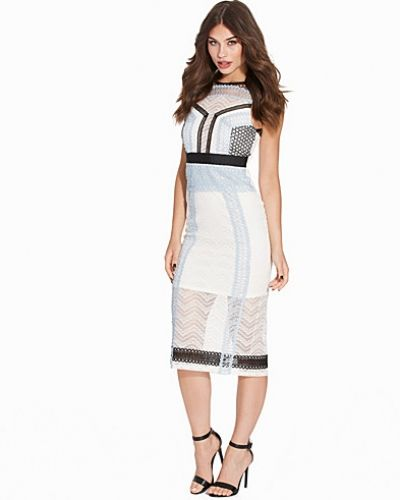 Topshop Lace Panel Midi Dress