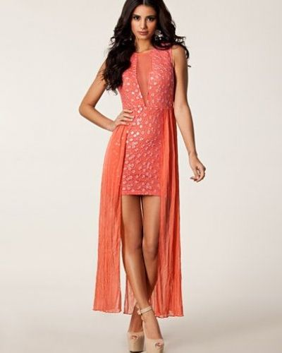 Ax Paris Lace Sequin Chiffon Dress