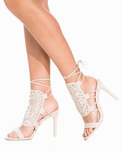 Högklackade Lace Tassel Heel Sandal från Nly Shoes