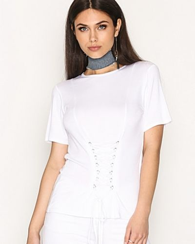 Lace Up Corset Tee NLY Trend t-shirts till dam.