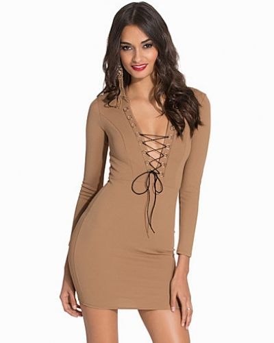 NLY One Lace Up Crepe Dress