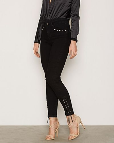 Slim fit jeans Lace Up Denim från NLY Trend