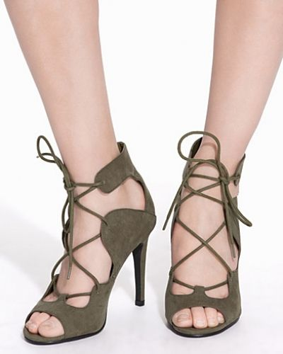 Högklackade Lace Up High Heel Sandal från Nly Shoes